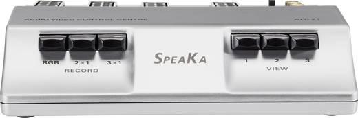 3 Port SCART-, Composite-, S-Video-Switch SpeaKa AVC-21 mit Überspielfunktion