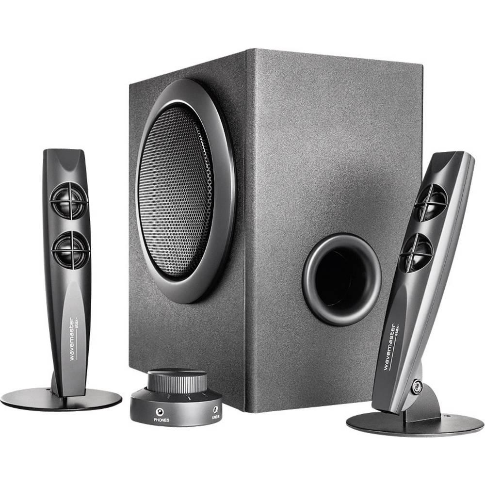 haut parleurs pc wavemaster stax noir sur le site internet conrad 351322. Black Bedroom Furniture Sets. Home Design Ideas