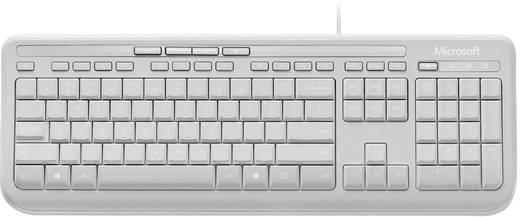 Microsoft Wired Keyboard 600 USB-Tastatur Grau Spritzwassergeschützt