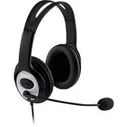 Headset k PC Microsoft LifeChat LX-3000 cez uši s USB káblový, stereo čierna, strieborná