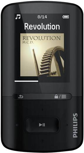 MP3-Player, MP4-Player Philips SA4VBE08KN 8 GB Schwarz