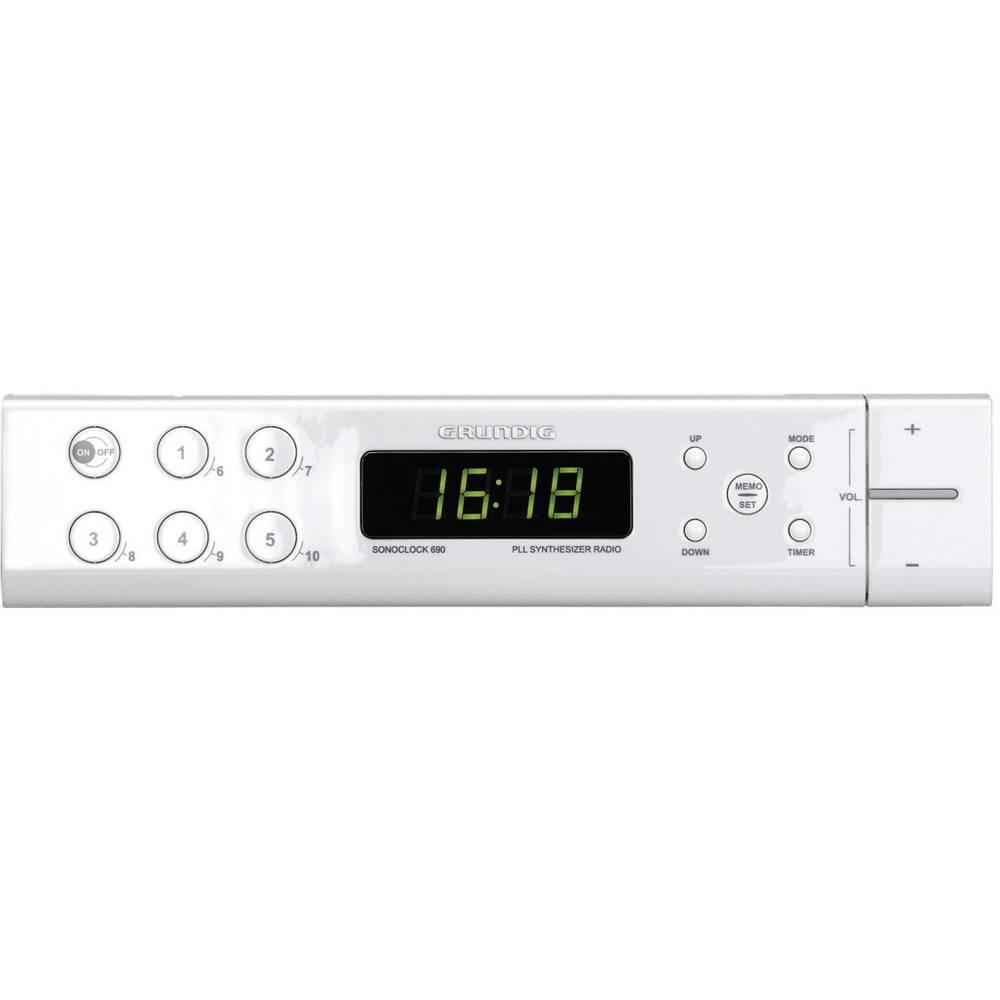 Grundig Sonoclock 690 FM Under Cabinet Kitchen Radio, White from ...