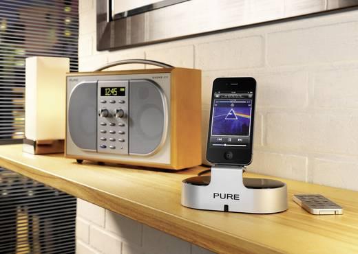 Pure i-20 Hi-Fi Dock for iPod/iPhone iPhone Dockingstation Schwarz, Silber