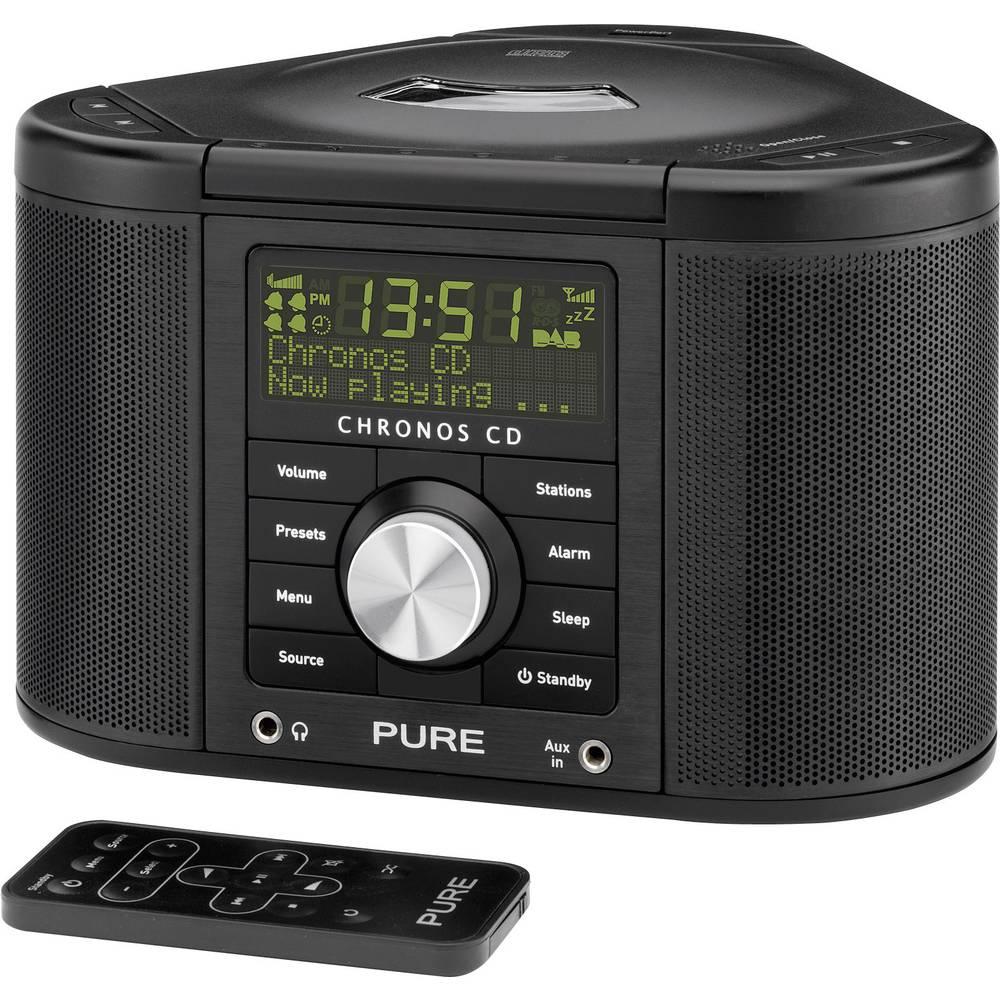 Pure Chronos CD Serie II Wekkerradio DAB+, FM AUX, CD Zwart