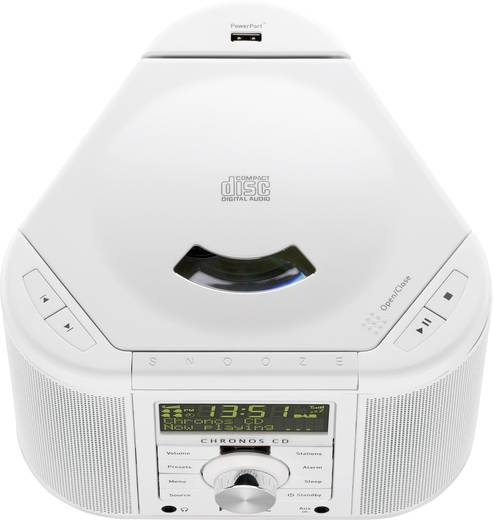 DAB+ Radiowecker Pure Chronos CD Serie II AUX, CD, DAB+, UKW Weiß