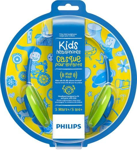 Kinder Kopfhörer Philips SHK1030 On Ear Lautstärkebegrenzung, Leichtbügel Blau, Grün
