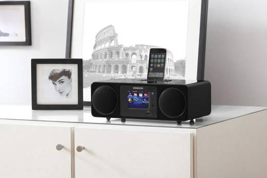 Sangean WFR-2D Internet Tischradio Apple-Dock, AUX, DAB+, Internetradio, USB Touchscreen, DLNA-fähig Schwarz