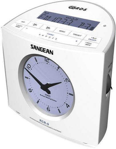 UKW Radiowecker Sangean RCR-9 AUX, MW, UKW Weiß
