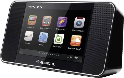 albrecht dr 870 hd tv internet tv mit integriertem ukw und internetradio. Black Bedroom Furniture Sets. Home Design Ideas
