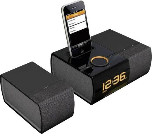 xtrememac luna sst radiowecker mit dockingstation f r ipod. Black Bedroom Furniture Sets. Home Design Ideas