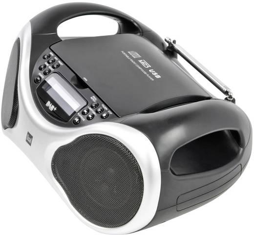 DAB+ CD-Radio Dual DAB-P 100 AUX, CD, DAB+, UKW, USB Silber, Schwarz
