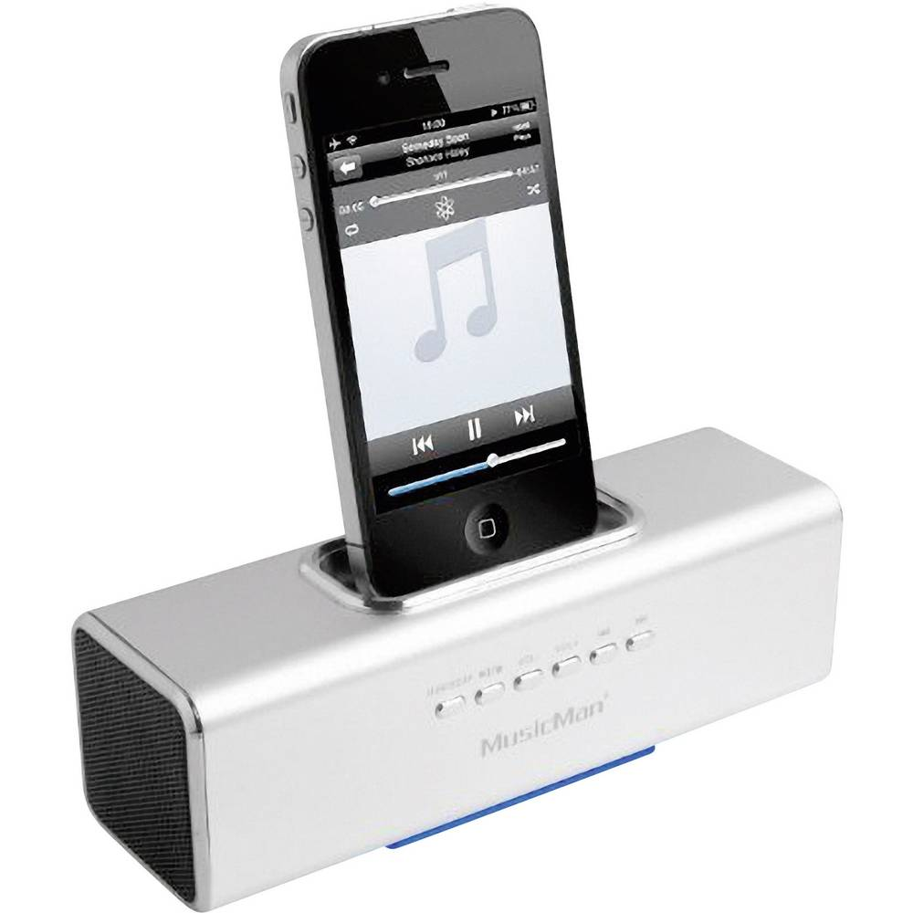 station d 39 accueil pour iphone ipod technaxx musicman blanc. Black Bedroom Furniture Sets. Home Design Ideas