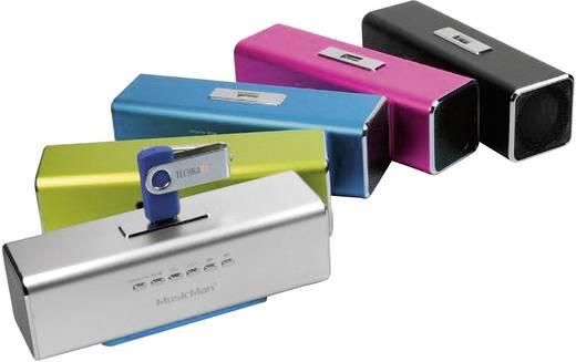 Mini Lautsprecher Technaxx MusicMan MA Lautsprecher AUX, FM Radio, USB, SD Silber
