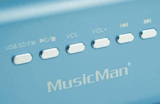 Technaxx MusicMan MA Lautsprecher Mini Lautsprecher AUX, FM Radio, USB, SD Blau