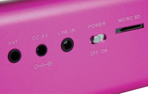 Mini Lautsprecher Technaxx MusicMan MA Lautsprecher AUX, FM Radio, USB, SD Pink
