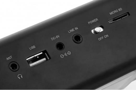 Mini Lautsprecher Technaxx MusicMan MA Display Soundstation AUX, FM Radio, SD, USB Schwarz