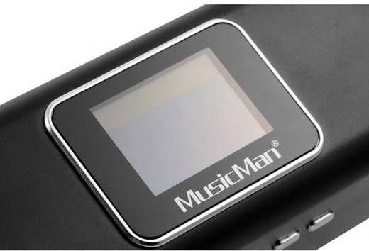 Mini Lautsprecher Technaxx MusicMan MA Display Soundstation AUX, FM Radio, SD, USB Schwarz