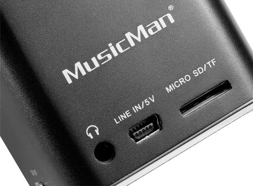Mini Lautsprecher Technaxx Mini soundstation MusicMan, noir AUX, SD, USB Schwarz