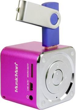 Mobilní mini sound stanice Technaxx MusicMan R, růžová