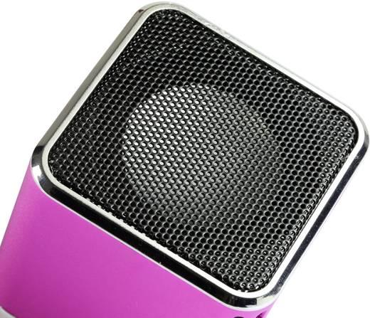 Mini Lautsprecher Technaxx MusicMan AUX, SD, USB Pink