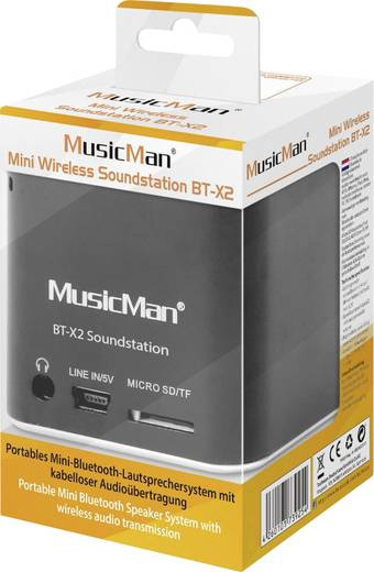 Bluetooth® Lautsprecher Technaxx MusicMan® Mini Wireless Soundstation BT-X2 Schwarz