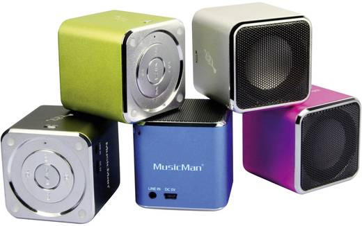Technaxx MusicMan® Soundstation BT-X2 Bluetooth® Lautsprecher Silber