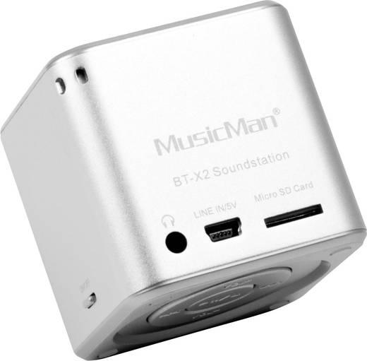 Bluetooth® Lautsprecher Technaxx MusicMan® Mini Wireless Soundstation BT-X2 Silber