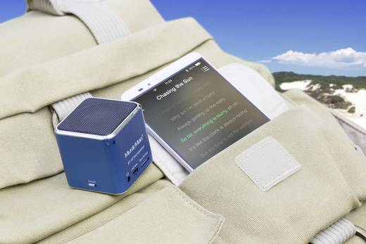 Bluetooth® Lautsprecher Technaxx MusicMan® Mini Wireless Soundstation BT-X2 Blau