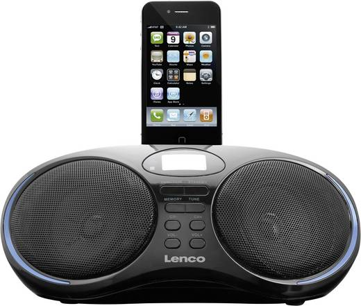 lenco ipd 5250 ukw radio mit dockingstation f r ipod und iphone. Black Bedroom Furniture Sets. Home Design Ideas