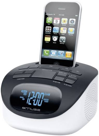 muse m 103 ip docking radiowecker f r iphone ipod schwarz. Black Bedroom Furniture Sets. Home Design Ideas