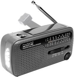 Solární rádio s dynamem a svítilnou Muse MH-07 DS hybrid, USB