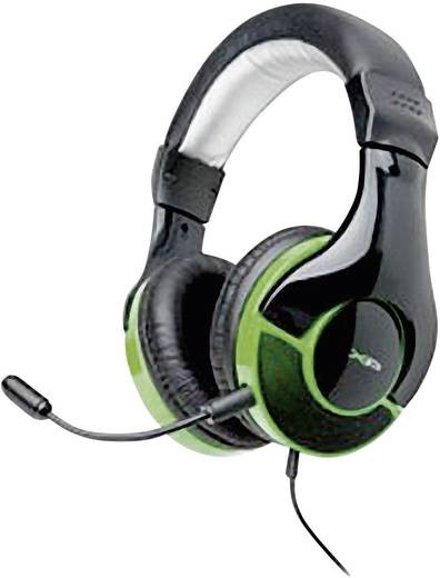 G-Star HS-343XP Gaming Headset 2.5 mm Klinke schnurgebunden, Stereo Over Ear Schwarz, Grün
