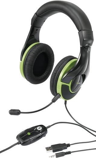Gaming Headset 2.5 mm Klinke schnurgebunden, Stereo G-Star HS-343XP Over Ear Schwarz, Grün