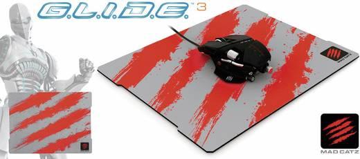Gaming-Mauspad MadCatz G.L.I.D.E. 3 Mikrofaser Grau, Rot