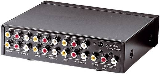 6 Port Composite-Splitter SpeaKa 352500 Schwarz