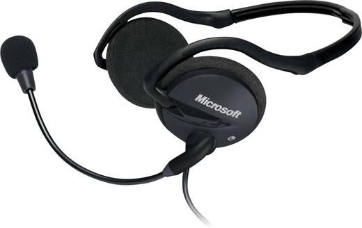 PC-Headset 3.5 mm Klinke schnurgebunden Microsoft LifeChat LX-2000 On Ear Schwarz