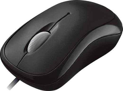 USB-Maus Optisch Microsoft Basic Optical Mouse Schwarz