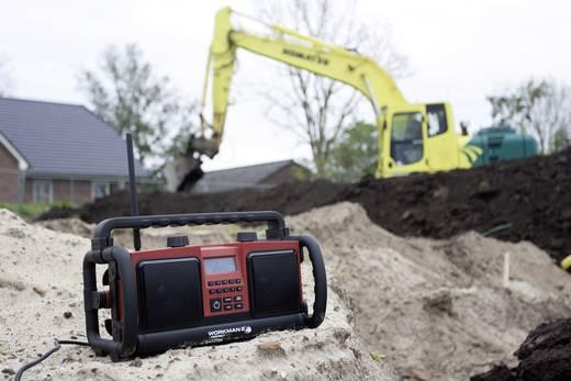 UKW Baustellenradio PerfectPro Workman 2 AUX, UKW spritzwassergeschützt, staubdicht, stoßfest Rot, Schwarz