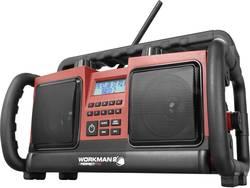 FM outdoorové rádio PerfectPro Workman 2, AUX, FM, červená, černá