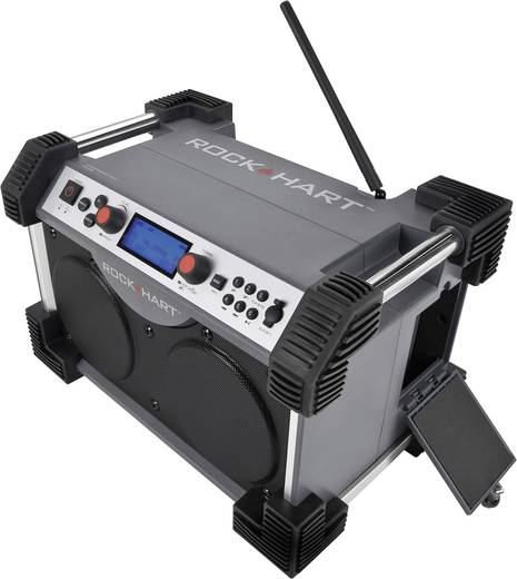 UKW Baustellenradio PerfectPro Rockhard bouwplaatsradio AUX, SD, UKW, USB spritzwassergeschützt, staubdicht, stoßfest Gr