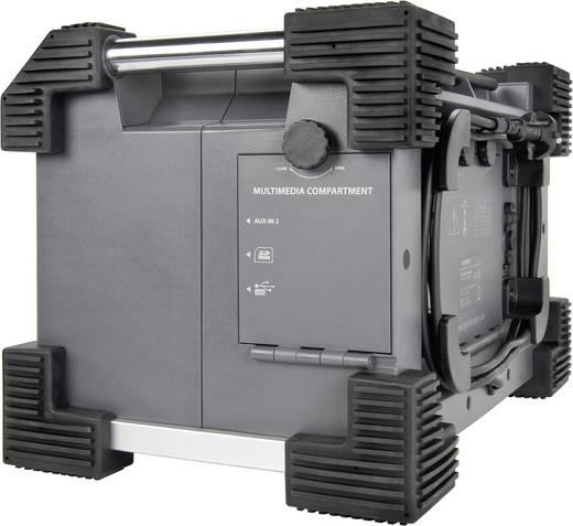 UKW Baustellenradio PerfectPro Rockhart AUX, SD, UKW, USB spritzwassergeschützt, staubdicht, stoßfest Grau