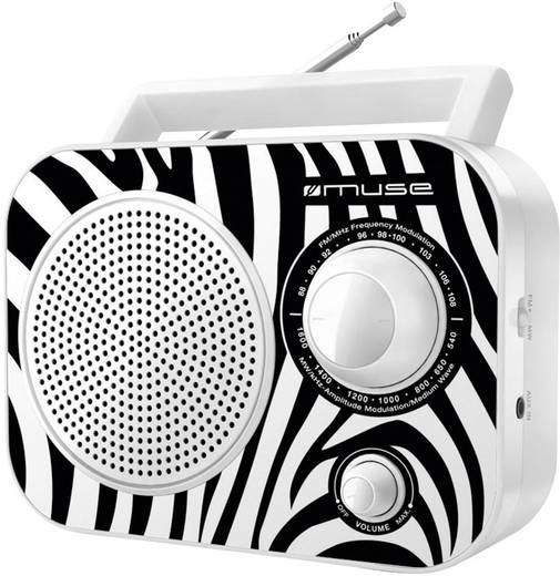 Kofferradio Muse M 060 ZW AUX, MW, UKW Weiß, Schwarz