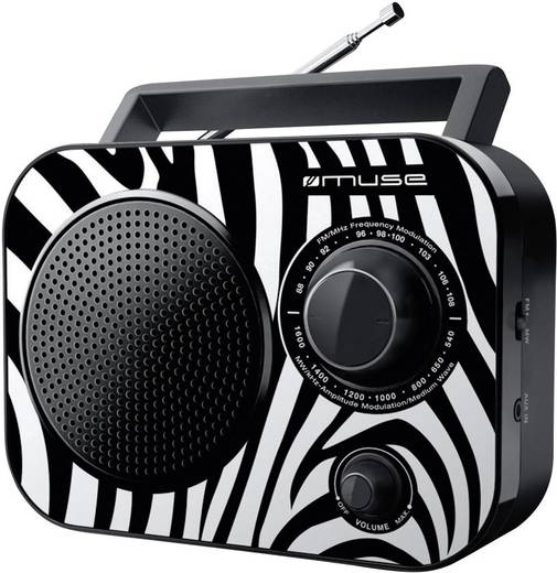 Kofferradio Muse M-060 ZB Schwarz, Weiß