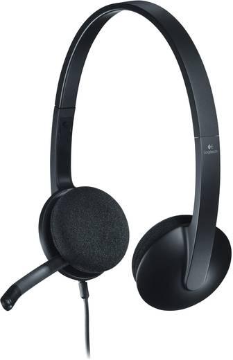 PC-Headset USB schnurgebunden, Stereo Logitech H340 On Ear Schwarz