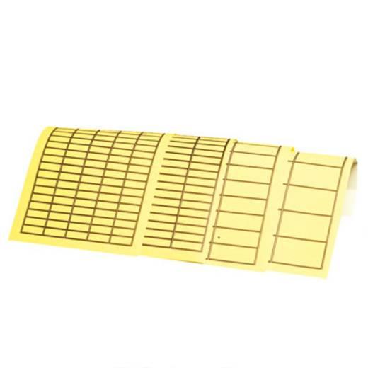 Kabel-Etikett 19 x 11 mm Farbe Beschriftungsfeld: Gelb Weidmüller 1686170000 PAGETAB 19X11 Anzahl Etiketten: 400