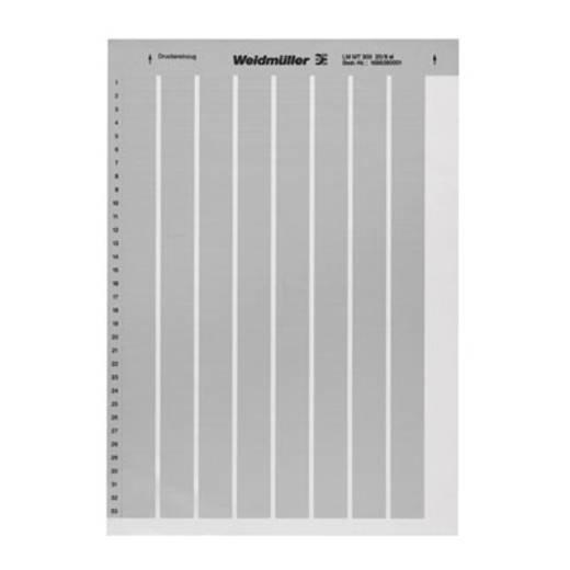 Beschriftungssystem Drucker Montageart: aufkleben Beschriftungsfläche: 56 x 22 mm Silber Weidmüller LM MT300 56X22 SI 1686420001 Anzahl Markierer: 360 10 St.