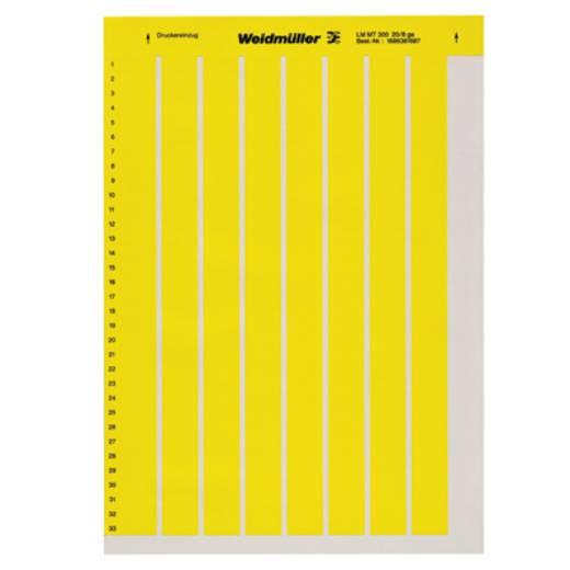 Beschriftungssystem Drucker Montageart: aufkleben Beschriftungsfläche: 202 x 12 mm Gelb Weidmüller LM MT300 202X12 GE 1915320000 Anzahl Markierer: 220 10 St.