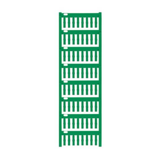 Gerätemarkierung Montage-Art: aufschieben Beschriftungsfläche: 18 x 4 mm Passend für Serie Weidmüller TM-H Hülsen Grün W