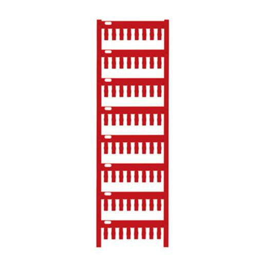 Gerätemarkierung Montage-Art: aufschieben Beschriftungsfläche: 12 x 4 mm Passend für Serie Weidmüller TM-H Hülsen Rot We