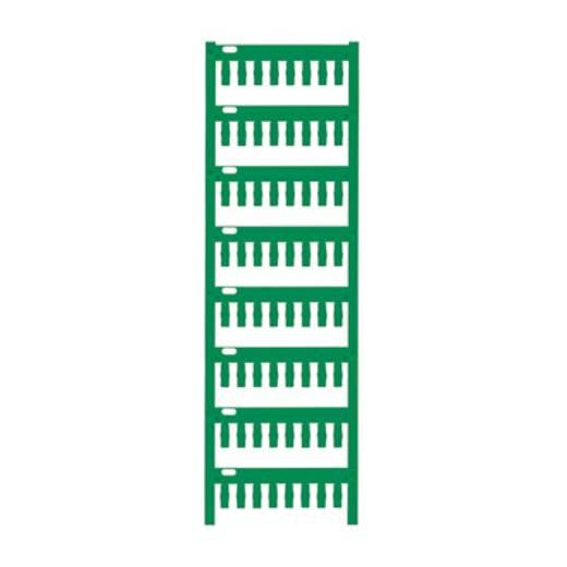 Gerätemarkierung Montage-Art: aufschieben Beschriftungsfläche: 12 x 4 mm Passend für Serie Weidmüller TM-H Hülsen Grün W